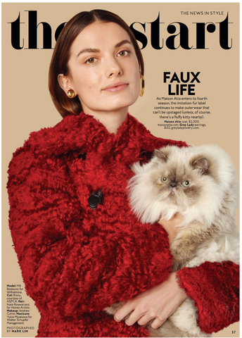 IN STYLE MAGAZINE MAISON ATIA FAUX FUR