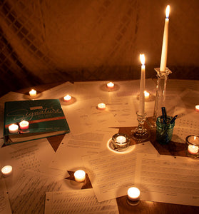Image for practicing handwriting by candlelight