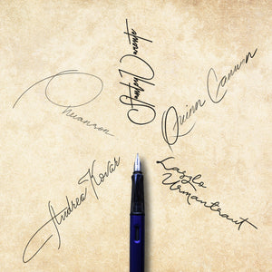 Image of beautiful signature samples like those in the Create a Signature You Love guidebook