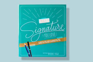 Image of the practice guide and workbook for Create a Signature You Love