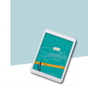 Image of the ebook cover of the Create a Signature You Love Ebook