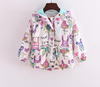 Girl jacket windbreaker spring children outwear long sleeve cartoon graffiti printing coat children jacket