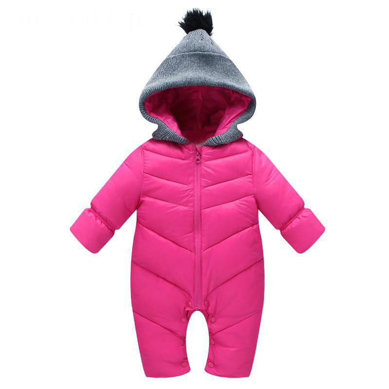 2f0f88c2dfcd Winter Baby Snowsuit Newborn Baby Girl Boy White Duck Down Hooded ...