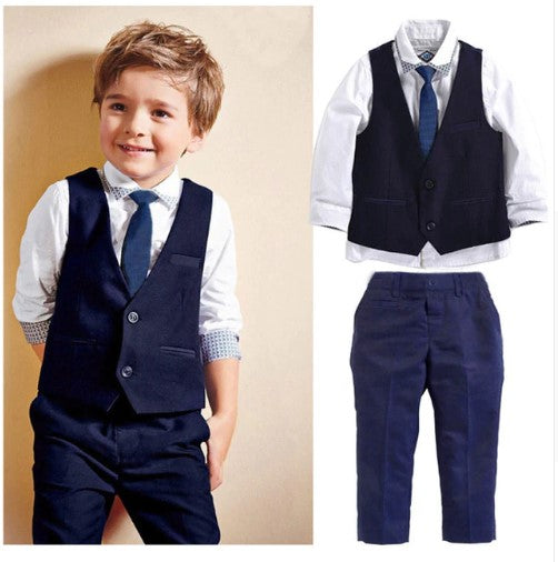 New Boys Formal Suits For Weddings Boys Formal Party Gentleman Suits