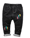 Girl jean pants Spring Autumn Children's Denim Pants casual Cotton Color Print Elasticity Waist Pants Boy Jeans