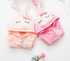 Baby coat baby girl jacket spring autumn children windbreaker for girl dots cartoon rabbit ears hooded jacket