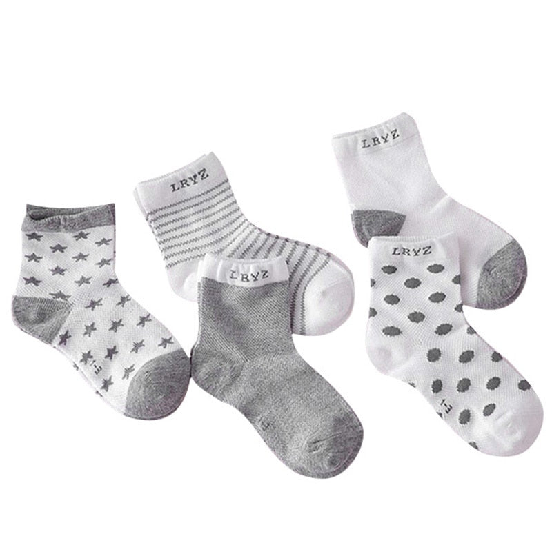 Autumn Winter Hot 5Pairs Baby Kids Cute Cartoon Socks Infant Toddler Soft  Cotton Sock Comfortable Ankle Socks For 0-10Y Dropship