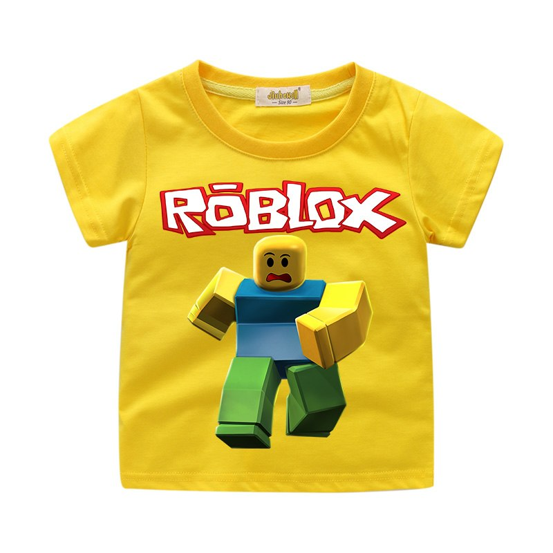Yellow Shirt Girls T Shirt Roblox Transparent Png Drop Children Roblox Game T Shirt Clothes Boys Summer Clothing Girls S Firstlook