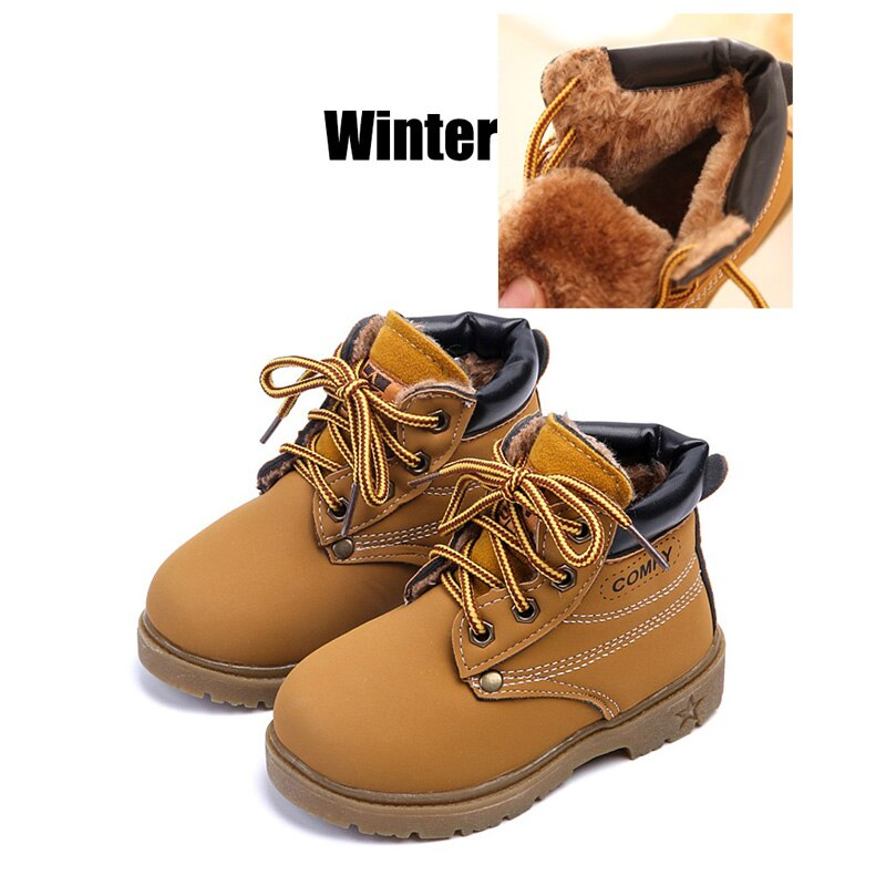 Toddler Children Baby Boys Girls Kids Winter Warm Martin Boots Snow Casual Shoes