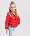 Girl jacket winter boy coat light section solid hooded thick cotton jacket kids jacket children clothing