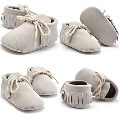 Autumn Winter Baby Boy Girl Baby Soft First Walkers Shoes Beby Fringe Soft Soled Non-slip Footwear Crib Leather Shoes Newborn