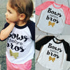 Long sleeve children girl t shirt Letter Printed cotton kids t shirt for boys children boys clothing
