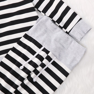 Baby Boys Girls Striped Clothes Hoodie Tops T-shirt+Cotton Pants suit newborn baby boys girls clothing