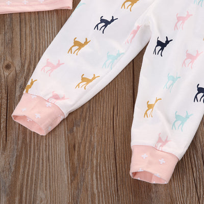 New autumn baby girl clothes cotton Pink long sleeve t-shirt+pants +hat kids 3pcs suit baby boy clothing sets clothing