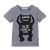 Baby Clothing Sets Boy Cotton little Monsters Short Sleeve Baby Boy Clothes