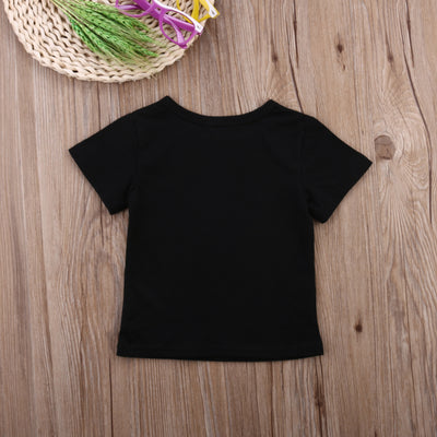 Cute Infants Baby Boys Girls Kid Clothes Summer Short Sleeve Cotton T-shirt Outfits 0-24M