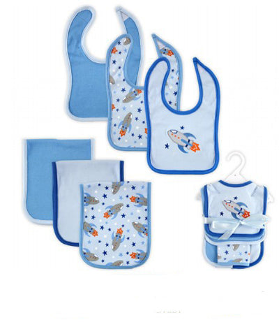 Hudson Baby Baby Bibs Super Soft Newborn Bibs&Burp Clothing Set Baby