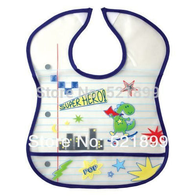 Friends High Quality Waterproof Baby Bibs Superhero Pattern Pocket catches Front Infant Saliva Towel