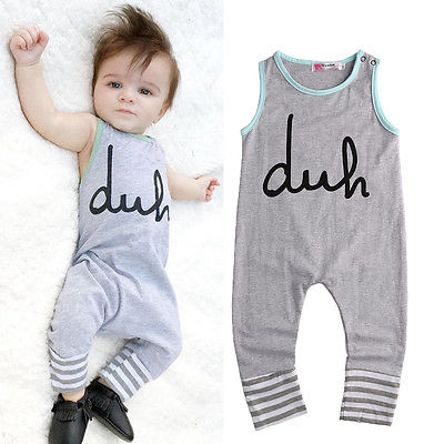 Newborn Summer Rompers Cute Toddler Baby Girl Boy Bear Jumpers Rompers Playsuits Outfits Clothes 0-24M