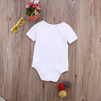 Heart Printed Newborn Infant Baby Boys Girls Short Sleeve Romper Jumpsuit Clothes Outfit Set 0-18M