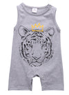 born Baby Boys Clothes Tiger Sleeveless Romper Cotton Jumpsuit Outfits