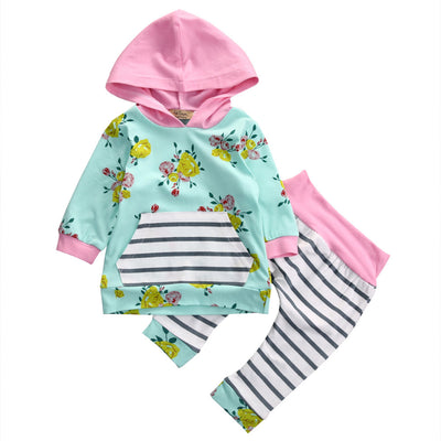 Autumn New baby boy clothing set fashion cotton long-sleeved Hoodie + Pants newborn baby boy clothes