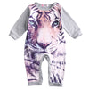 Newborn Kids Baby Boy Girls Cartoon Tiger and Panda Infant Cotton Romper Clothes Outfit