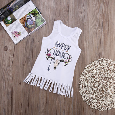 Kids Baby Girls Sleeveless Tassels Dress Fashion Casual Girls Clothes kid dress Sundress Outfits Clothes