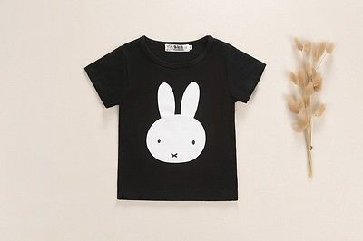 Girls Clothing set Cotton Rabbit t-shirt + pants suit 2pcs/set baby girls casual Short sleeved t-shirt +pants set