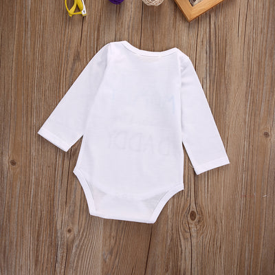 Autumn Cute Newborn Infant Baby Boy Girl Mom Dad Long Sleeve Romper Toddler Cotton Jumpsuit Newborn Clothes