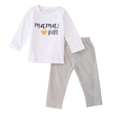2pcs/Set !New baby boy Girls clothing set long sleeved printing t-shirt+pants fashion baby clothes newborn infant 2pcs suit
