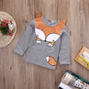 Child spring autumn clothes kids tops tees girls long sleeve bottoming t shirts children t-shirts fox
