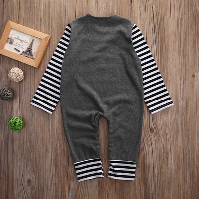 Autumn Newborn Toddler Baby Girls Boy Cotton Long Sleeve Romper Striped Jumpsuit Clothes Outfits