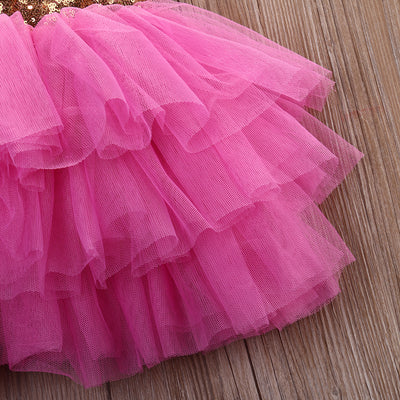 Summer Baby Girl dress Sequins Bow Backless Party Prom Princess Tulle Tutu Wedding Dress Children girl clothing