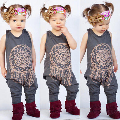 Toddler Baby Girl Boy Clothes Sleeveless Romper Jumpsuit Playsuit Outfits Costume