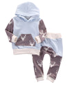 born Baby Clothes Cotton Baby set Long Sleeve Baby boy Girl Hooded Clothing suits Children Clothing Set