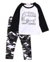 Autumn baby boy clothing set cotton long-sleeved letter T-shirt trousers newborn baby boy clothes set
