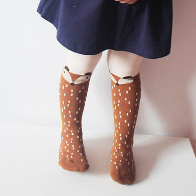 New Autumn Cartoon Fox Baby Girl Tights Cotton Cute Children Stocking Baby Pantyhose For Kid 0-5Years