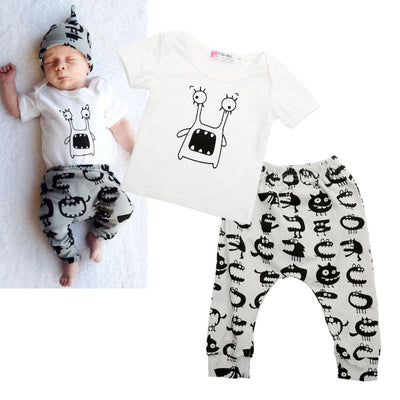 New Baby clothes sets autumn and spring girls clothing sets baby boy clothes set Short-sleeve and pants