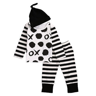 3Pcs/Set ! New baby boy clothing set Boy Girl Long Sleeve Tops T-shirt+Pants 3pcs boys clothes newborn infant suit