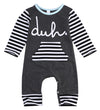 Spring autumn fashion born Baby Girls Boys Cotton Romper infant Body Suit letter Long Sleeve Striped Clothes