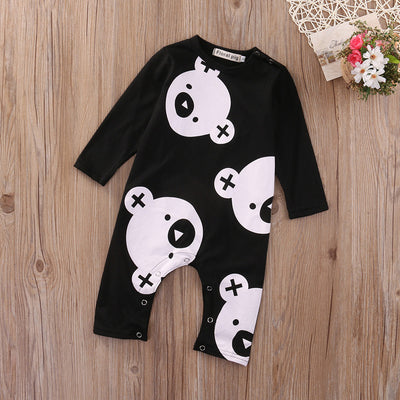 Newborn Infant Baby Boy Girl Kids Cotton Bear Long Sleeve Romper Jumpsuit Clothes Outfit