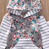 arrival girl & boys clothes set Adorable born Baby Girls Floral Clothes Hooded Tops Pants Home Outfits Set