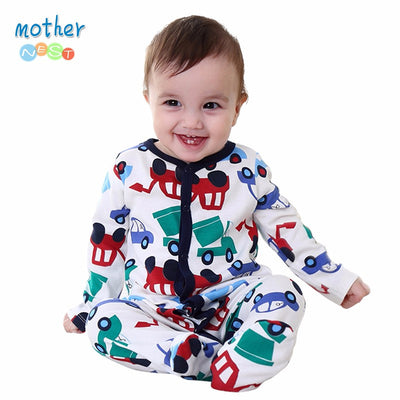 Nest Newly Baby Romper Jumpsuit Winter Clothing Cute Car Printed Kids Clothing Autumn 100% Cotton Baby Boy Clothes