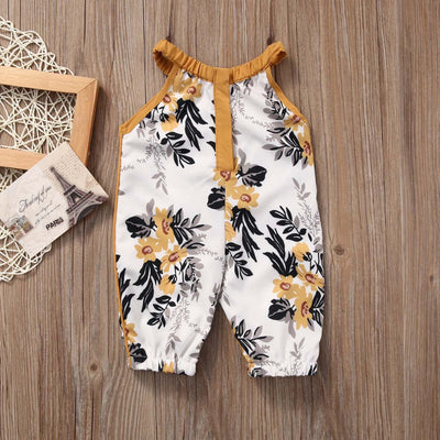 Baby Girls Clothing Baby Girls Floral Sleeveless Summer Jumpsuit Romper Clothes Outfits