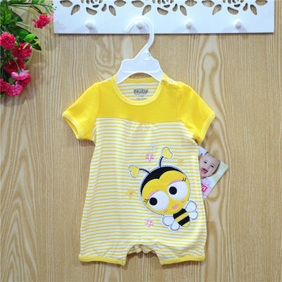 Baby boys clothing short sleeve O-neck 100% cotton brand new 3m 6m 9m 12m 18m 24m High Quality newborn baby girl rompers