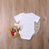 Cotton born Infant Baby Boy Girls Short Sleeve Letter Romper Cotton Jumpsuit Clothes Outfits