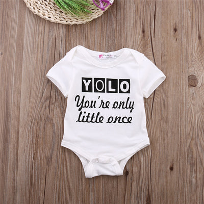 Baby Boy Clothes Baby Girls Bodysuit Letter Bodysuit Jumpsuit Outfit Clothes