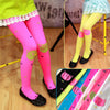 Cute Cartoon Cat Baby Girl Tights Infant Fill Knitted Coll-ant Stockings Cotton Candy Color Ballet Dance Velvet Toddler Tights