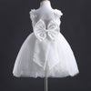 Chic Lace Flower Girl Princess Party Bow Wedding Prom Dress Backless